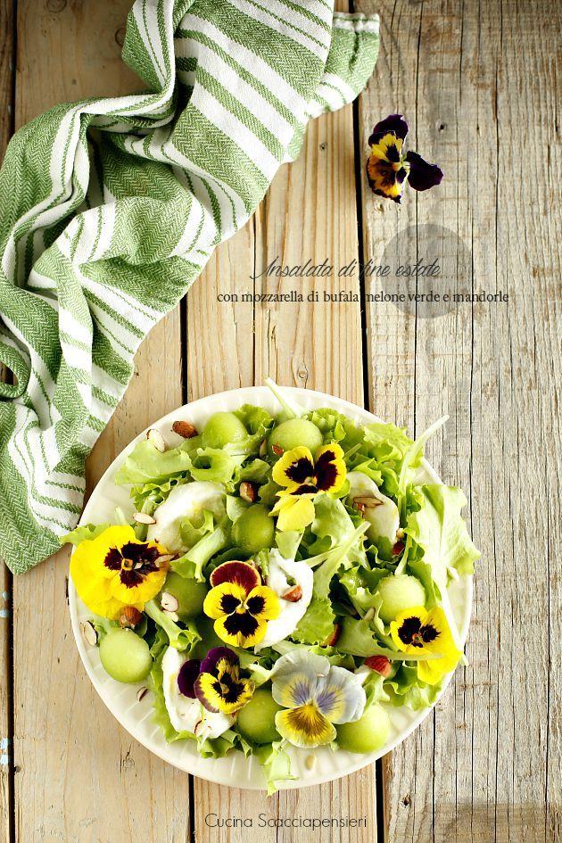 Cucina Scacciapensieri: Insalata con melone verde, mozzarella di bufala e mandorle