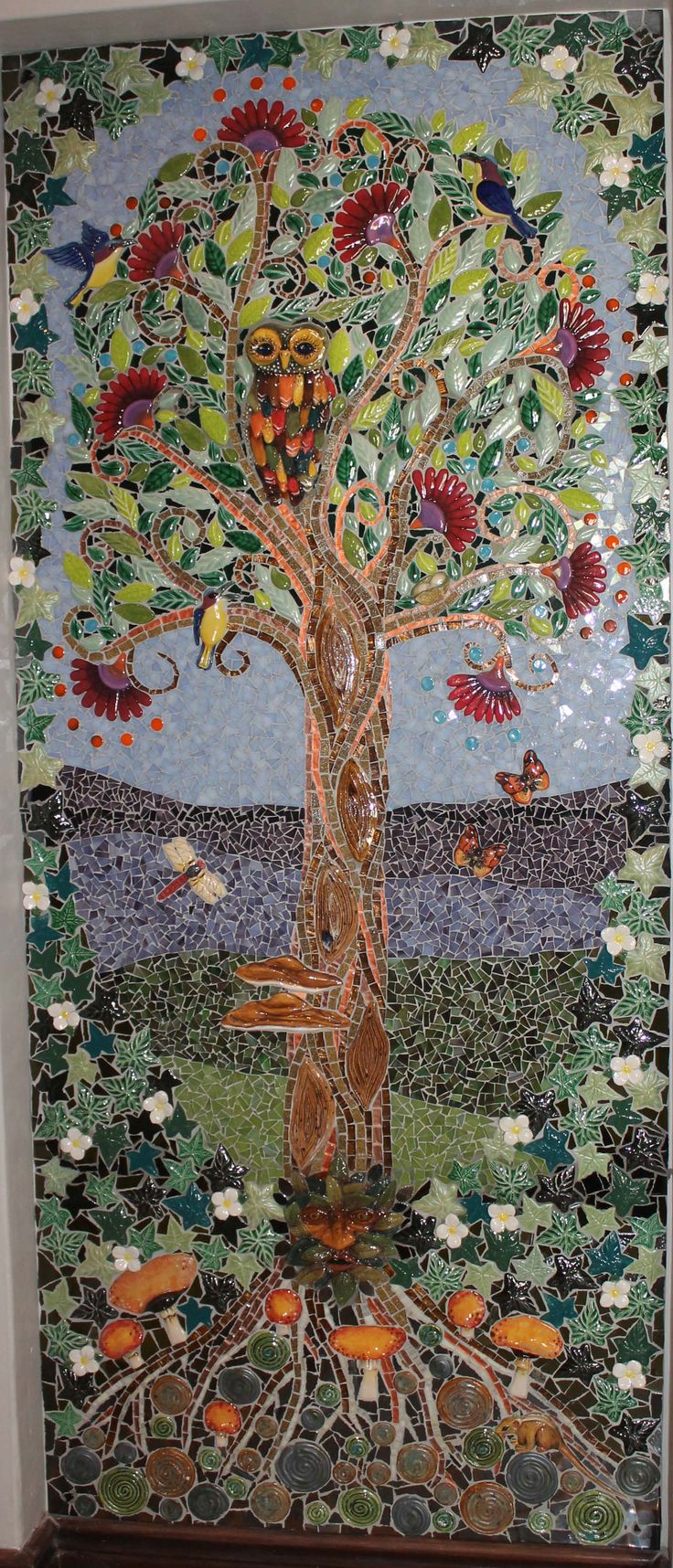 Tree Panel with clay elements