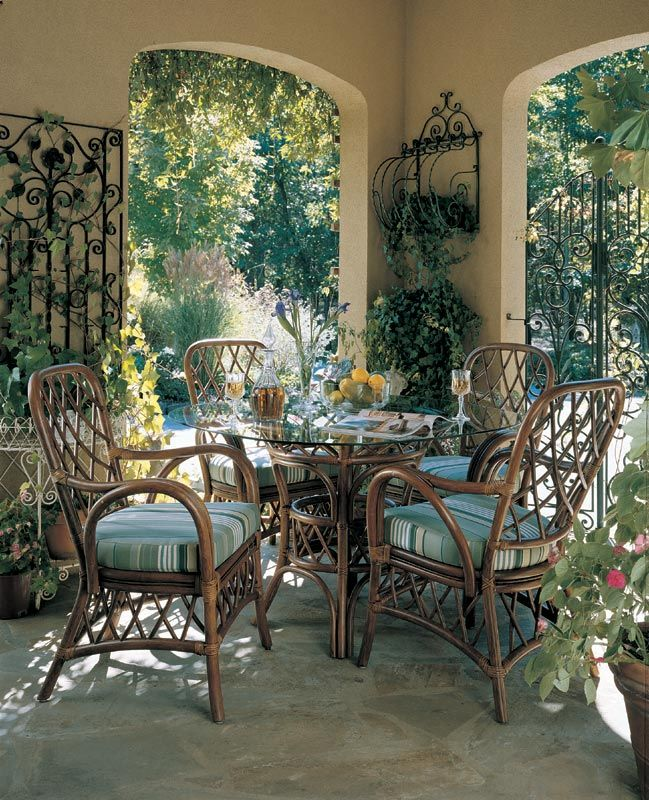 Wicker Dining Room Sets: 23 Best Indoor Wicker And Rattan Dining Sets Images On