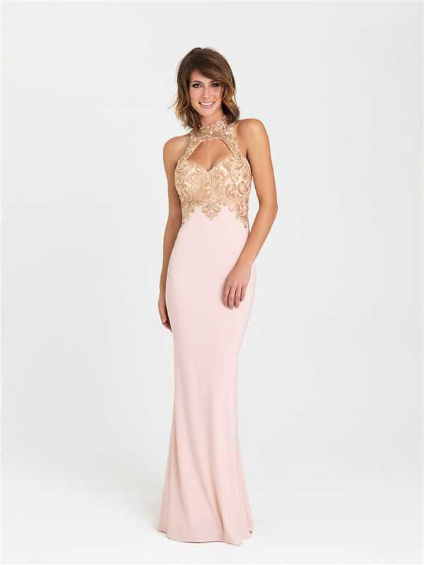 Long Sparkle Beaded Fitted Prom Dresses by Madison James 16-396 2017
