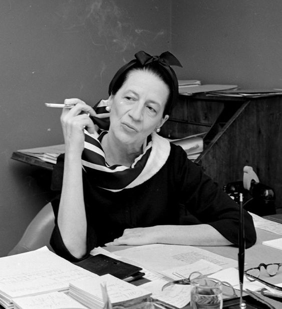 """""""I have a terrible time remembering exactly when my birthday is. Age is totally boring…"""" -Diana Vreeland (b. July 29, 1906)"""