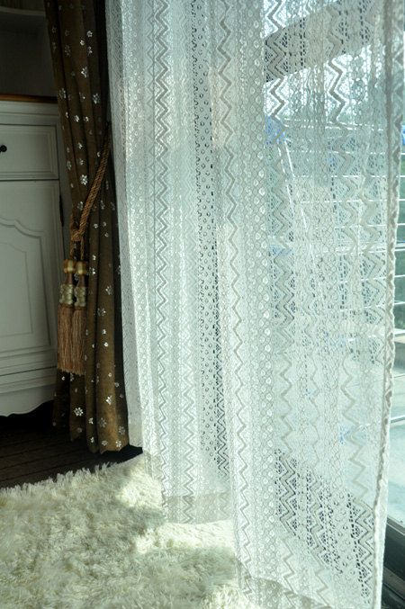 55 width curtain fabric cotton wave curtain by designourlife