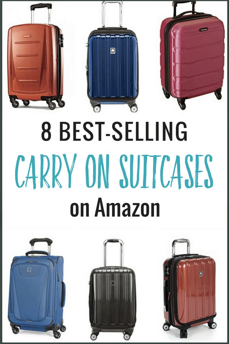 Looking for carry-on luggage? I've done the research for you. Here are 8 of the best selling and most popular carry on suitcases on Amazon!