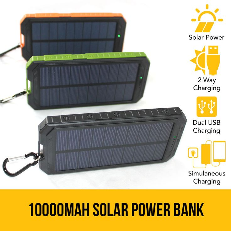 10000mAh Solar Power Bank Dual USB Battery Charger Portable Flashlight Compass