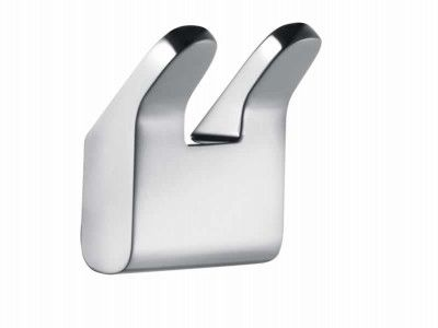 Chrome-plated Keuco Collection Moll Double Towel Hook.