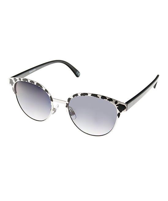 Black & White Browline Sunglasses