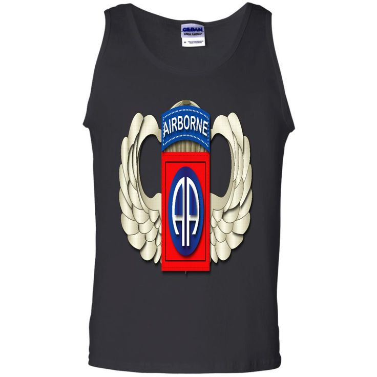 82ND AIRBORNE DIVISION WINGS G220 Gildan 100% Cotton Tank Top