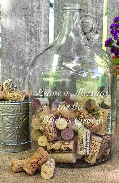 CATHY'S CONCEPTS 'Wedding Wishes in a Bottle' Gallon Growler Guest Book available at #Nordstrom