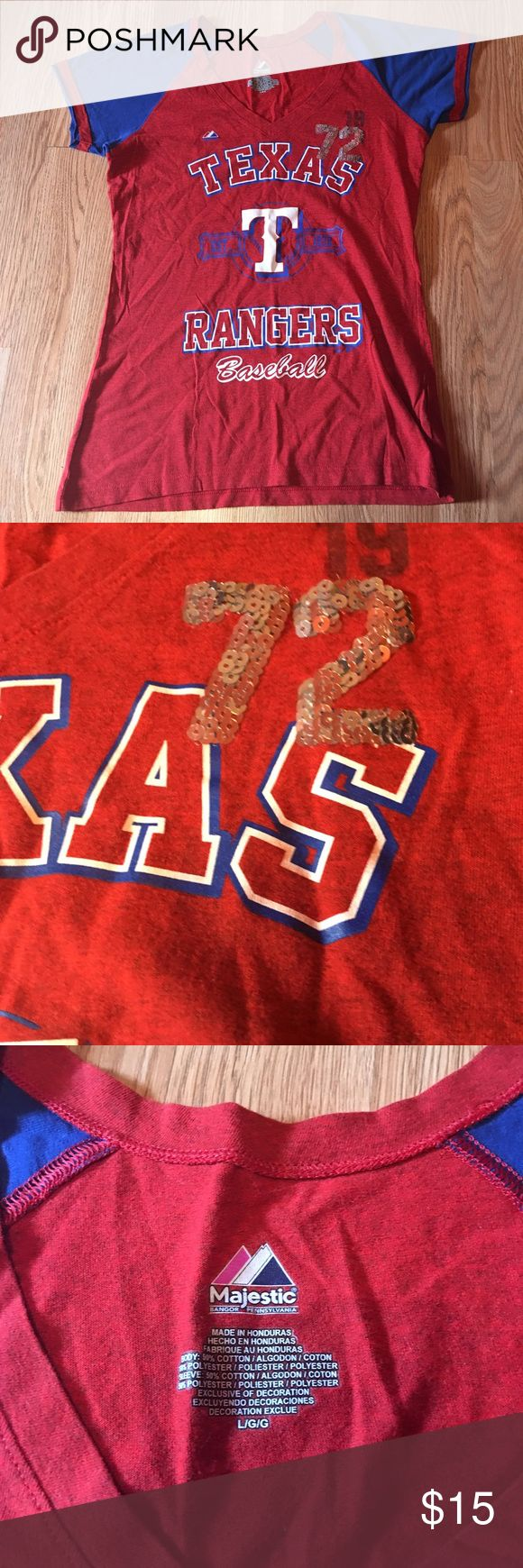 Texas Ranger's Top Great condition. No rips No stains. Size Large Texas Ranger's  Tops Tees - Short Sleeve