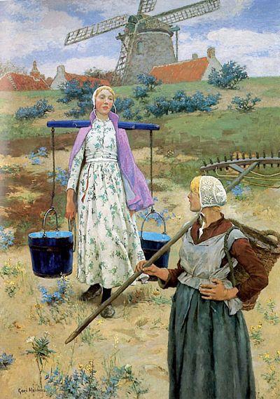 Gari Melchers (1860‐1932)  In Holland, 1887