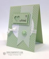 Stamp Set: Six-Sided Sampler Paper: 2013-2015 In Color DSP, Pistachio Pudding, Whisper White Ink: Early Espresso Cool Tools: Hearts Collection Framelits Dies (smallest heart), Circles Collection Framelits Dies The Perfect Touch: Rhinestone Basic Jewels, In Color Boutique Details