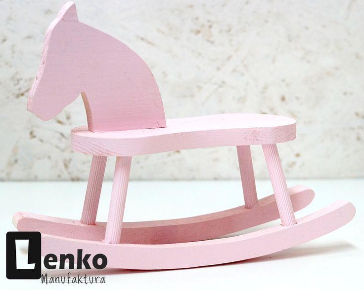 Konik na biegunach zabawka z drewna Lenko Manufaktura