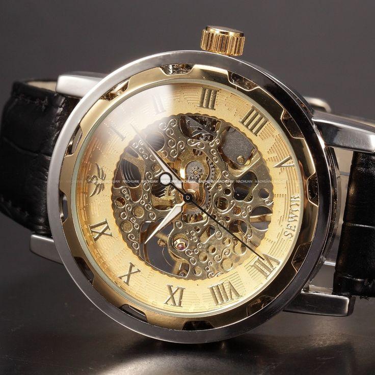 новогодние товары скелет лучшие мужские часы люксовый бренд механические часы мужские наручные часы скелет часы муёчин люксовый бренд Men's Watch