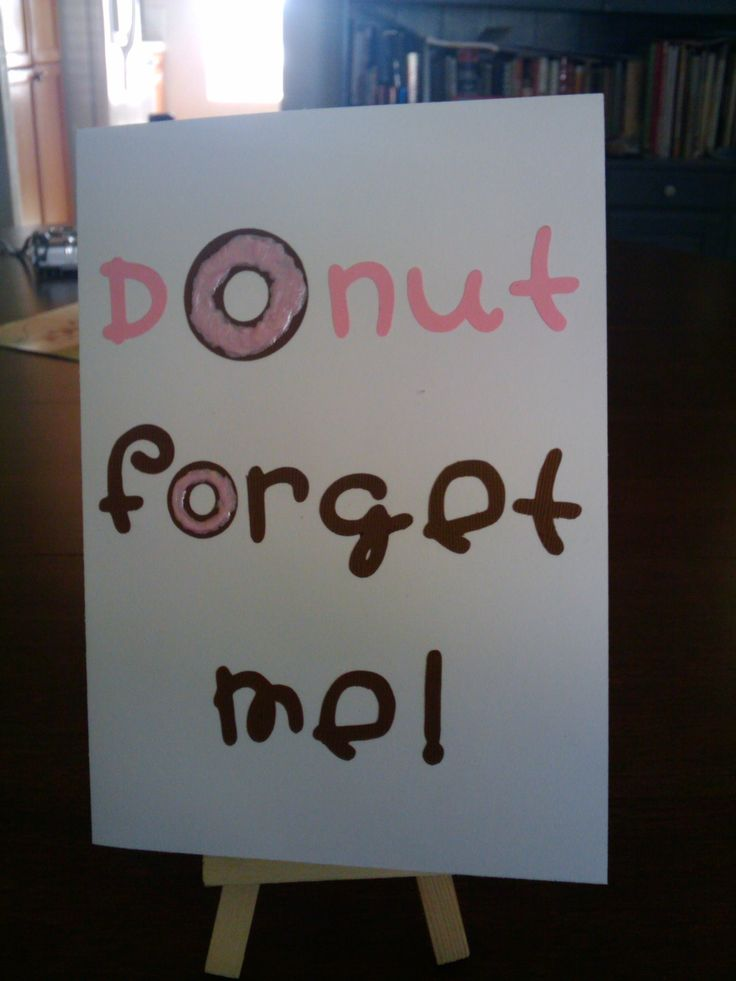 Going Away Party idea. Serve donuts and hot cider and coffee.