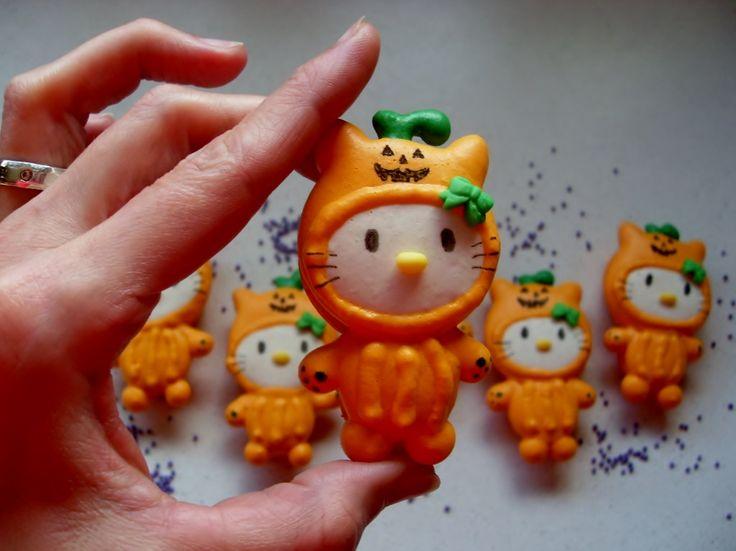 Halloween Hello Kitty Macarons :)