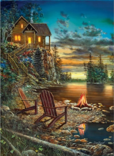 Summer Pleasures Sunset at Lake SunsOut 1500 Piece Jigsaw Puzzle by Artist Jim Hansel, $18.50