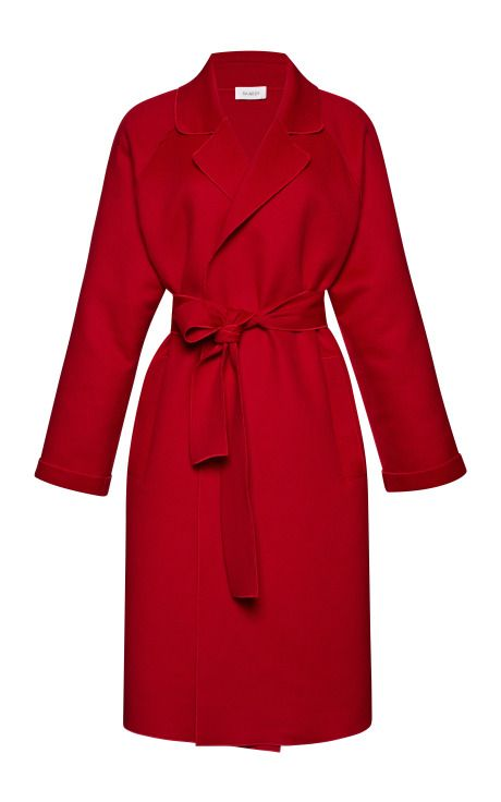 Belted Wool and Cashmere-Blend Coat by Isa Arfen Now Available on Moda Operandi: