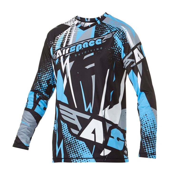 Infinite Skydiving Jersey in Space Blue colorway — at Manufactory Apparel.  — Products shown: Infinite Skydiving Jersey for Airspace Indoor Skydiving #customskydivingjerseys #getintoskydiving #skydive #jerseys http://www.manufactoryapparel.com/