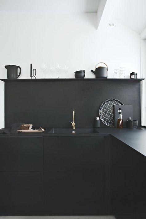 Les 25 meilleures id es de la cat gorie cuisine noire sur for Cuisine moderne 974