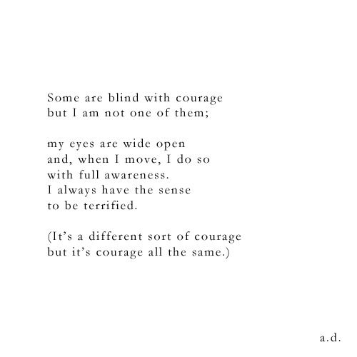 courage all the same, a.d.