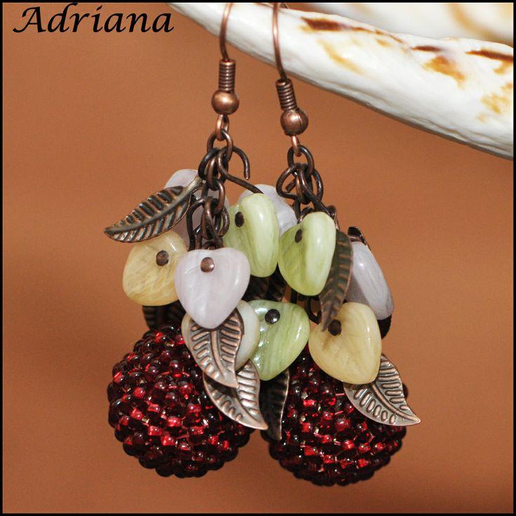 Bižutéria Adriana - moja korálková tvorba   .....naušnice