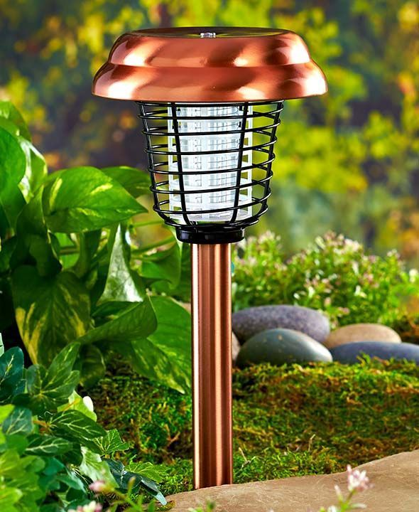 1 Bronze Garden Bug Zapper Light Stake Porch Patio Yard Lawn Outdoor Home  Decor