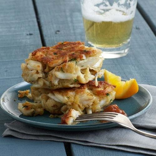 This crab cake is the real deal—no fussy stuff, no flavor disguises. Just pure, sweet crab meat, and lots of it. You add in just enough egg and fresh bread crumbs to bind the crabmeat together. White sandwich bread yields the absolute best cakes—soft and flaky at the same time. Use just enough Old Bay seasoning to give a hint of its presence or it will overpower the crab.