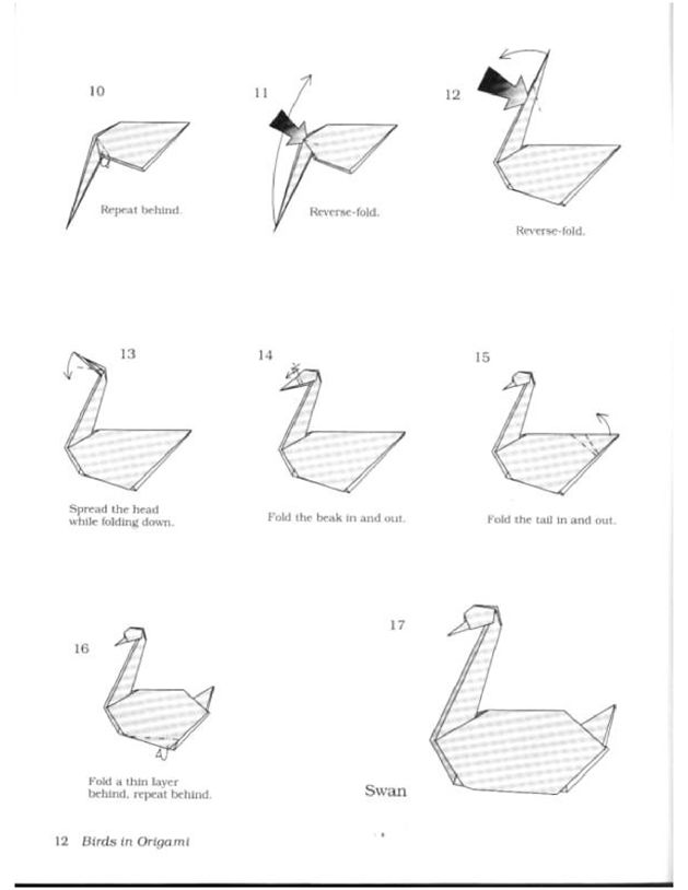 Origami swan page 2 origami pinterest origami swan for Origami swan folding instructions