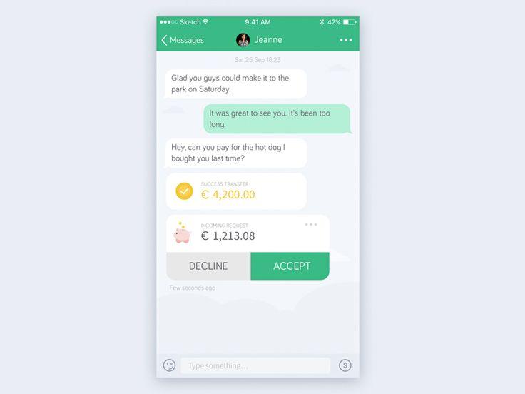 Payment via chat by Serge Khmelovskyi