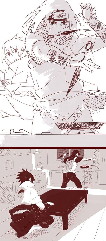 Itachi and Sasuke - Itachi's cooking skills