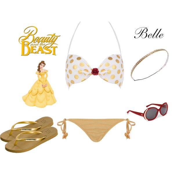 """""""Belle (Beauty) Inspired ~ Pool Party Outfit"""" by karla-cristina on Polyvore"""