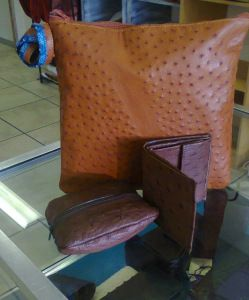 Ostrich Leather products for him!