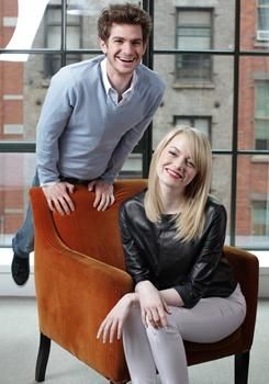 Andrew Garfield and Emma Stone. Love them and love them together!!!