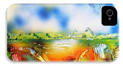 Rainbowland  IPhone 4 / 4s Case Printed with Fine Art spray painting image Rainbowland by Nandor Molnar (When you visit the Shop, change the orientation, background color and image size as you wish)