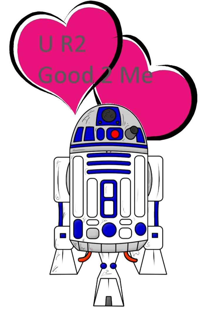 R2D2 Valentine's Card with Free Printable