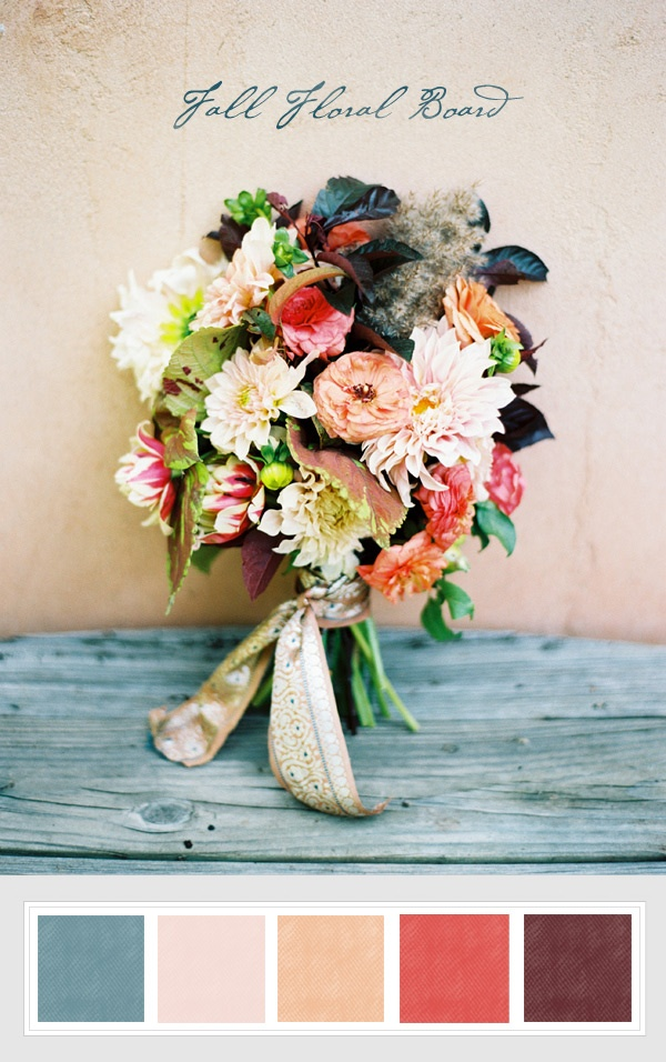 Love this color combo! And jealous I didn't think of these gorgeous colors for my own fall wedding...