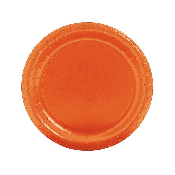 Round Orange Dinner Plates - OrientalTrading.com