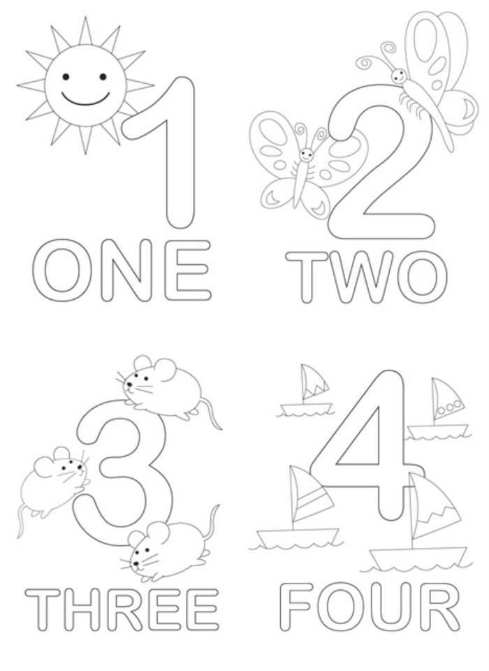 數字練習著色本 - 印了玩 - 親子就醬玩