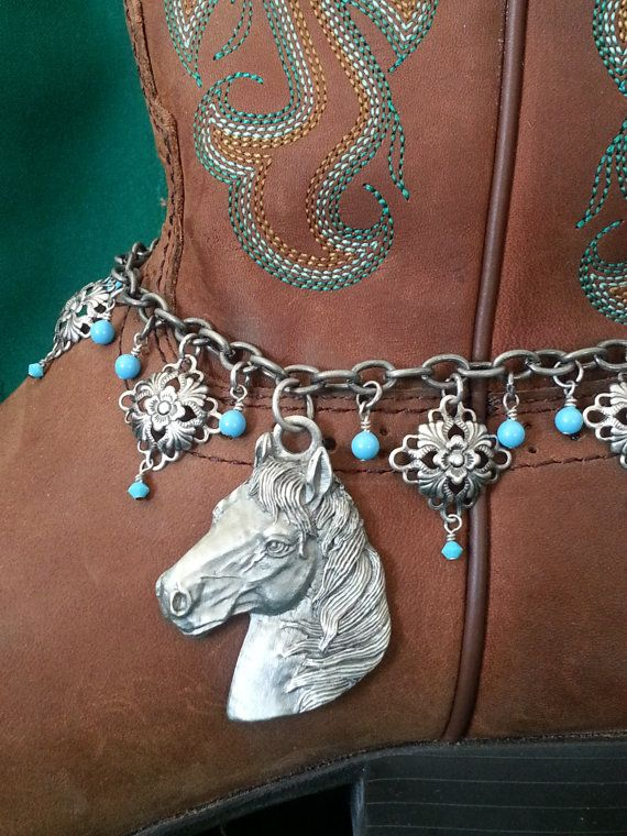 Boot+Bling+Anklet+by+HowlingWolvesJewelry+on+Etsy,+$32.95
