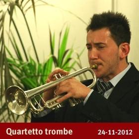 Quartetto di Trombe  Concerto 2012  Ottava Nota - Auditorium  via Marco Bruto 24  0289658114 3388576271  info@ottavanota.org  www.ottavanota.org