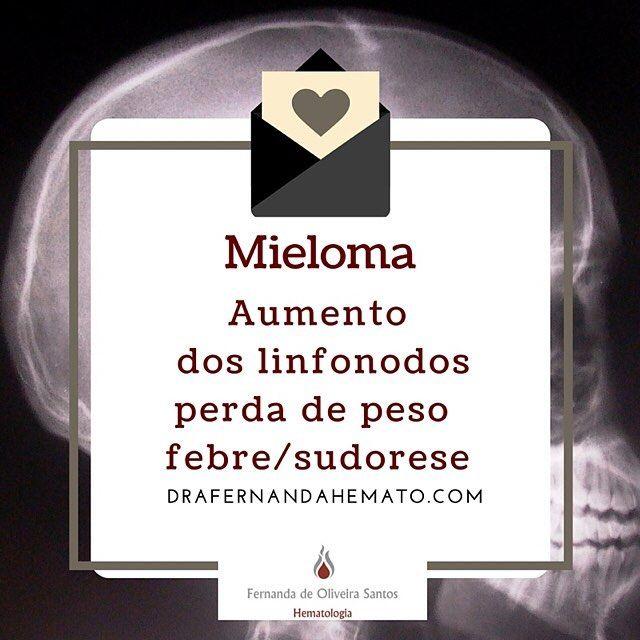 Mieloma múltiplo é um tumor hematológico das células plasmocitárias associado com lesão renal anemia e fraturas. Sempre importante pensar no diagnóstico quando houver qualquer um desses sintomas não explicado. Os exames que ajudam no diagnóstico são a eletroforese de proteinas e o mielograma. #drafernandahemato #mielomamultiplo #hematologia #medicina