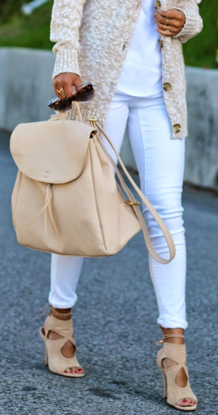 neutral backpack + shoes | pursuitofshoes.com