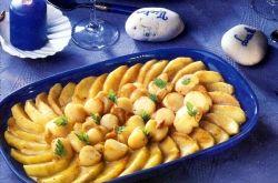 noix de saint jacques aux pommes