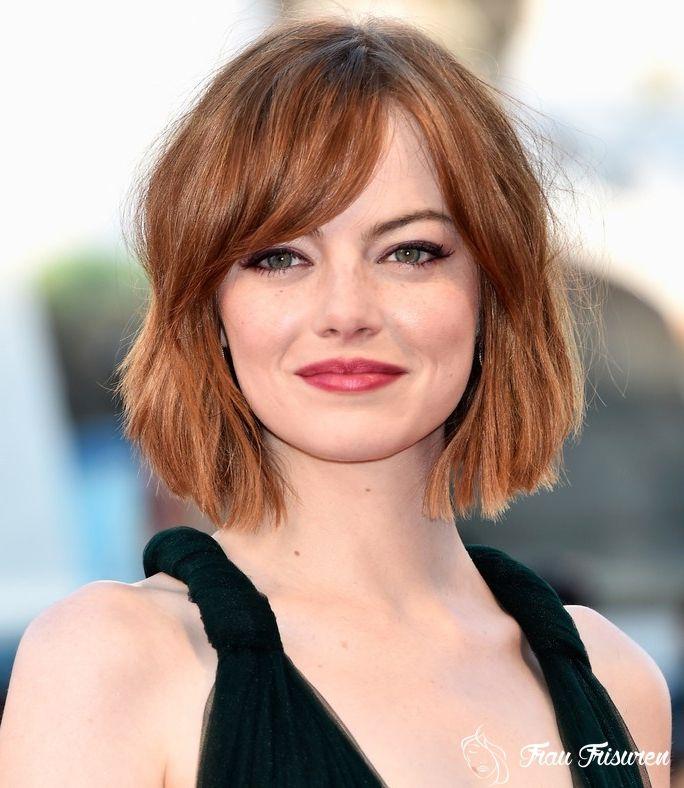 20 Glamourose Frisuren Von Emma Stone Fur Ihre Inspiration Haarschnitt Mittellanger Haarschnitt Bob Frisur