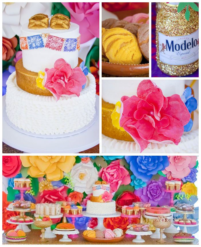 Colorful Mexican Themed Baby Shower with Lots of Really Fun Ideas via Kara's Party Ideas! Full of decorating tips, desserts, cupcakes, cakes, recipes, favors,games, and MORE! #mexicanfiesta #latinparty #fiesta #colorfulfiesta #partyideas #partydecor #eventstyling #partystyling (1)