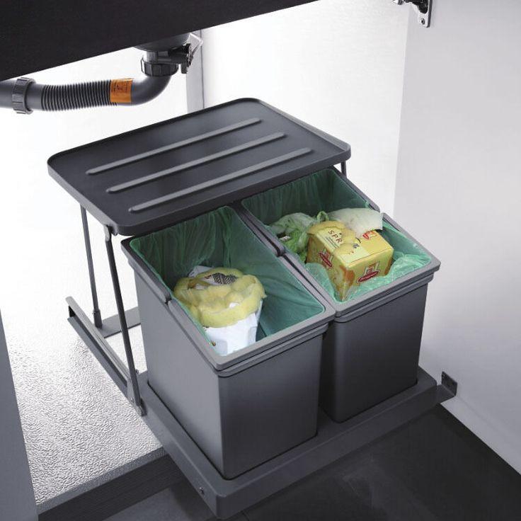 25 best under sink bin ideas on pinterest under sink - Kitchen trash container ...