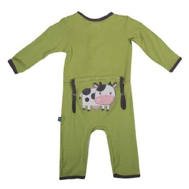 KicKee Pants Applique Coverall in Meadow (this brand used to be called Kicky Pants...the material is bamboo and soooo soft)