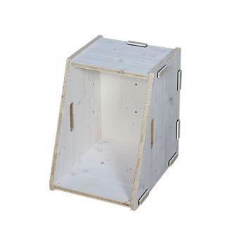 Werkhaus Shop - WERKBOX TRAPEZ Fichte Weiß