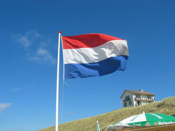 De Nederlandse vlag. De vlag van het land waar ik in geboren ben