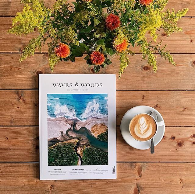Good morning Tuesday! Hello Waves & Woods (@wavesandwoodsmagazin)  Issue 09. The latest edition of the wonderful (German only) magazine about surfing outdoor and traveling is now available in our online shop (touch the picture for a link) and at @balzundbalz!  #wavesandwoods #wavesandwoodsmagazin #surfing #outdoor #travel #biketravel #adventure #coffeetablemags #magazineshop #hamburg